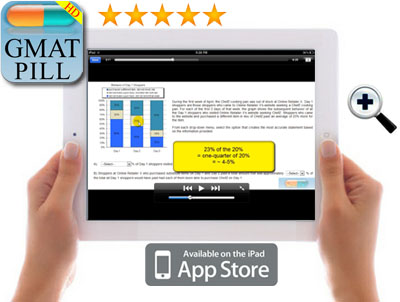 ipad hold GMAT iPhone App: How to use GMATPractice v2.0  by GMAT Pill